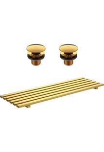 Kit Complementar Para As Cubas L131 E L1044 De Grelha E Válvula Gold - 2013.Gl - Deca - Deca