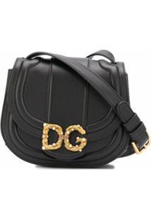 Dolce & Gabbana Bolsa Transversal Com Placa Dg - Preto
