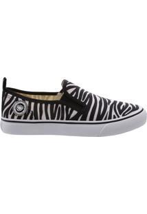 Tênis Long Slip On Prints Zebra   Fiever