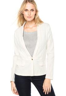 Blazer Art Fashion Relevo Off-White