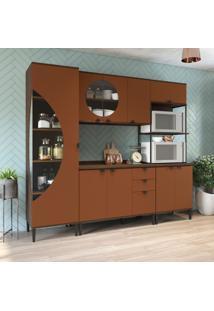Cozinha Compacta Bett 9 Pt 3 Gv Jacarandá E Terracota