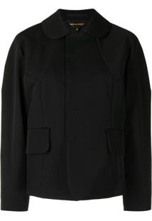 Comme Des Garçons Concealed-Front Jacket - Preto