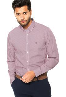 Camisa Tommy Hilfiger Slim Rosa