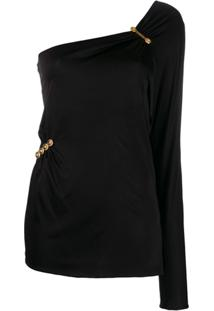 Versace Off-The-Shoulder Top - Preto