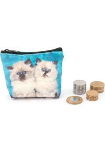 Porta Moedas Pets - Blue Cats