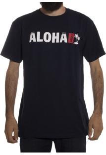 Camiseta Vans Aloha Navy/White