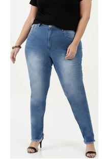 Calça Feminina Cigarrete Plus Size Uber Jeans