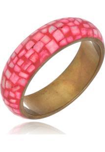 Bracelete Le Diamond Esmaltado Com Ouro Velho