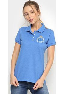 Camisa Polo Cruzeiro Hat Trick Feminina - Feminino