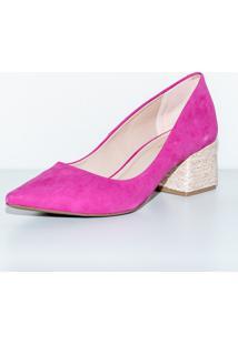 Scarpin Via Salto Nobuck Pink