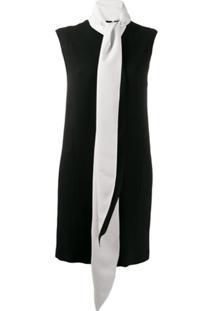 Givenchy Contrast Scarf Collar Dress - Preto