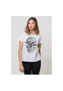 Camiseta Jay Jay Básica Caveira Na Onda Branca