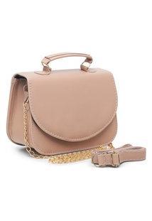 Bolsa Transversal Mini Bag Carmelo Shoes Lisa Nude