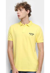 Camisa Polo Tommy Hilfiger Essential Regular Masculina - Masculino-Amarelo
