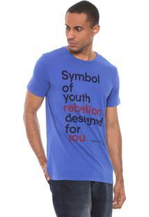 Camiseta Calvin Klein Jeans Symbol Of Youth Azul