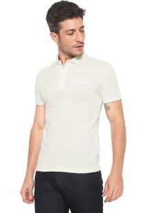 Camisa Polo Lacoste Slim Lisa Off-White