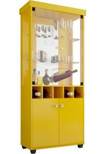 Cristaleira Monza Amarelo Móveis Bechara
