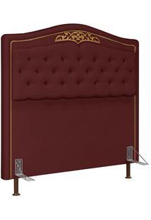 Cabeceira Cama Box Casal Queen 160Cm Imperial J02 Suede Vinho - Mpozen