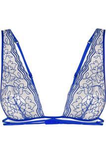 La Perla Sutiã Translúcido - Azul