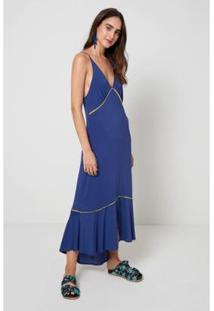 Vestido Recorte Vivo Onda - Oh, Boy! - Feminino-Azul