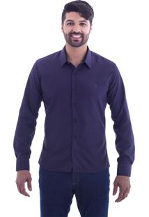 Camisa Slim Fit Live Luxor Vinho 2112 - M