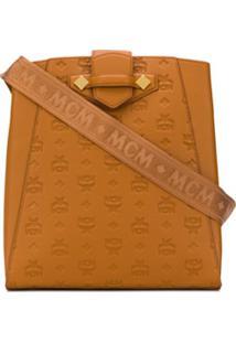Mcm Logo-Pattern Shoulder Bag - Marrom