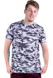 Camiseta Alongada Full Print - Camuflada