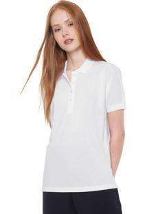 Camisa Polo Lacoste Reta Lisa Branca