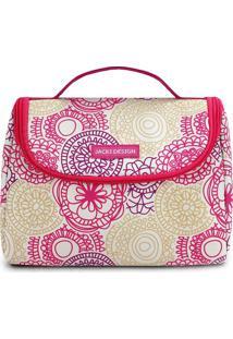 Bolsa Térmica Mandala- Pink & Branca- 16X22X12Cmjacki Design