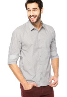 Camisa Manga Longa Hemingway Slim Dente-De-Leão Cinza