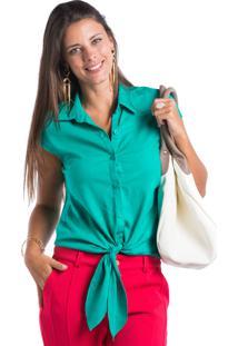 Camisa Marcia Mello Nozinho Barra Verde Aruba