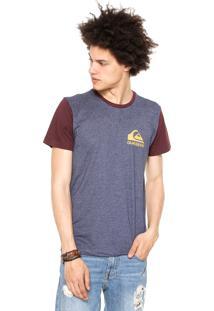 Camiseta Quiksilver Jungle Fore Azul/Bordô