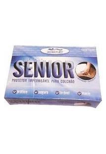 Capa Protetora Colchão Caixa De Ovo Branca Zíper - Senior Senior Care