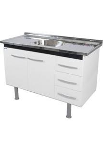Gabinete De Cozinha Sonic 98,4X55Cm Branco E Preto Bonatto