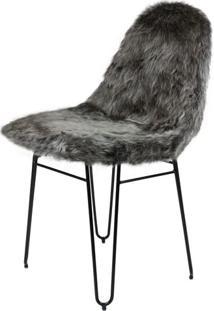 Cadeira Invisi Pele Sintetica Preta Com Base Preta - 48806 - Sun House