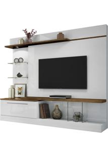 Home Allure Em Mdf E Mdp 1 Gaveta Ideal Para Tv At Branco/Canyon Hb Moveis