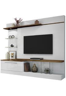 Home Allure Em Mdf E Mdp 1 Gaveta Ideal Para Tv At Branco/Canyon Hb Moveis