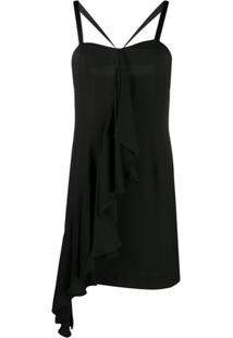 John Richmond Slip Dress Farah Com Babados - Preto