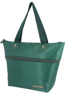 Bolsa Expansivel Tam. P Damasco Jacki Design Essencial Ii Verde