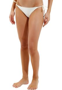 Calcinha Rosa Chá Basic Beachwear Off White Feminina (Off White, G)