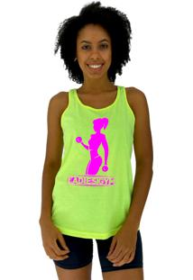 Regata Feminina Alto Conceito Ladies Gym Amarelo Flúor