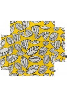 Jogo Americano Leaf - 4 Peças - Amarelo