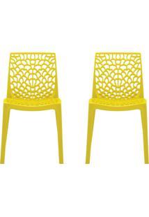 Conjunto De 2 Cadeiras Gruv Amarela