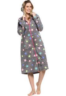 Robe Inspirate Soft Com Zíper E Capuz Stars