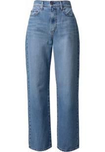 Nobody Denim Calça Jeans Reta Lou Com Cintura Alta - Azul