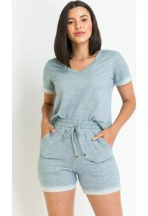 Blusa Pks Comfort Moletinho Azul - Kanui