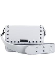 Bolsa Shoestock Mini Bag Tiracolo Tachas Feminina - Feminino-Off White