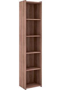 Estante Para Livros Biblioteca P Esm 206 Rústico - Móvel Bento