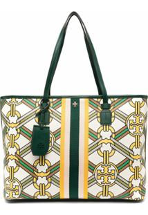 Tory Burch Bolsa Tote Com Estampa De Corrente - Neutro