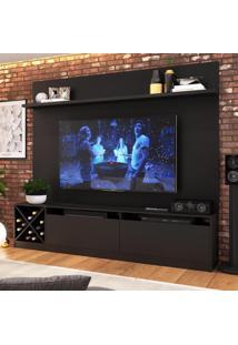 Estante Para Tv Até 65 Polegadas 2 Portas 2022 Ptx Preto - Quiditá Móveis